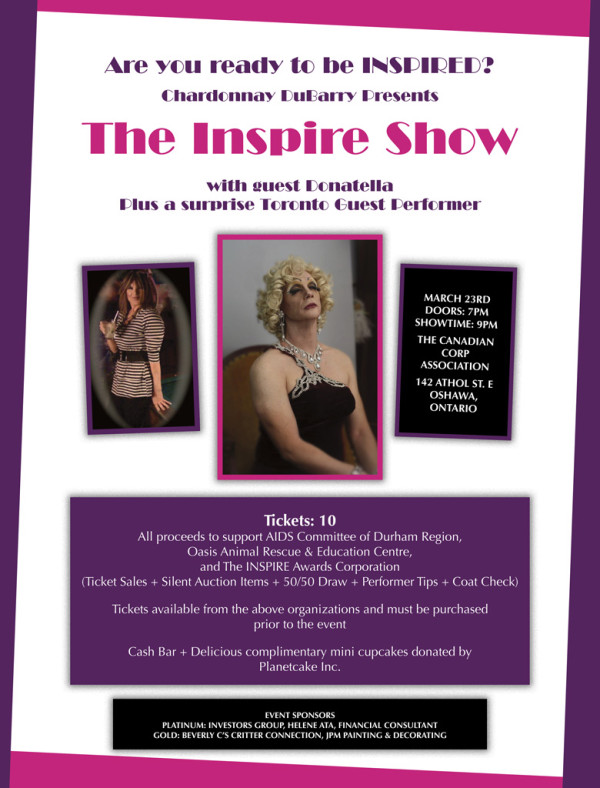 The Inspire Show poster - An Oshawa Event