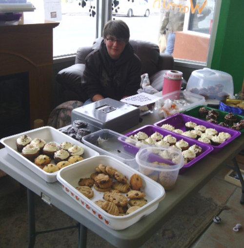 Oasis Animal Rescue bake sale photos
